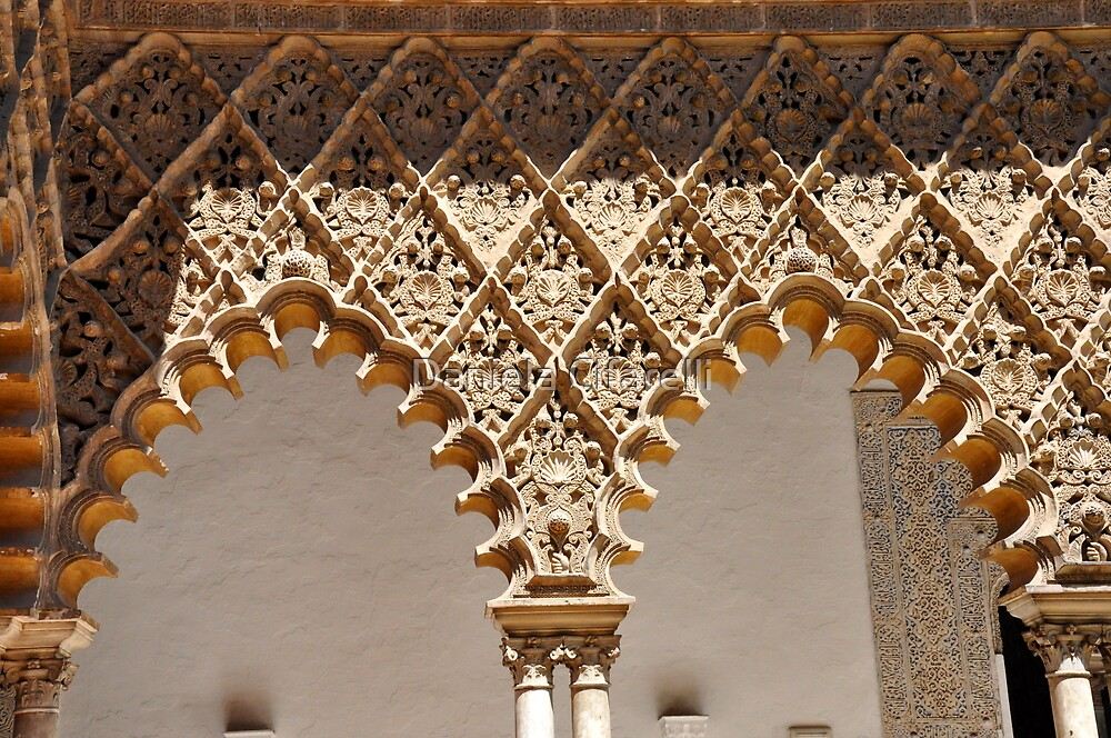 Laces at Seville - THE REAL ALCAZAR arches by Daniela Cifarelli