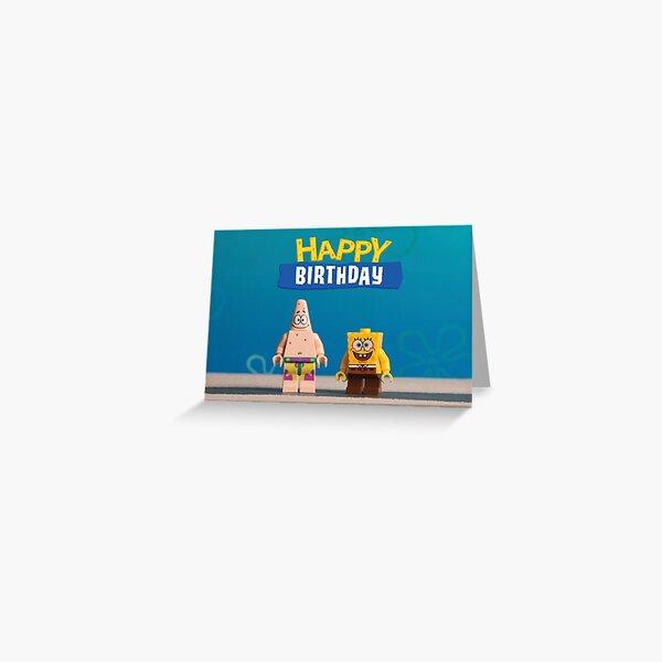 Spongebob themed Birthday Card Greeting Card