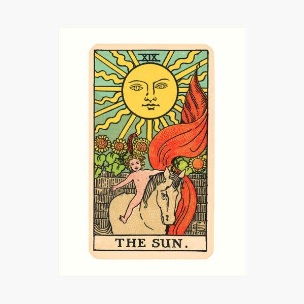 Tarot Card - The Sun Art Print