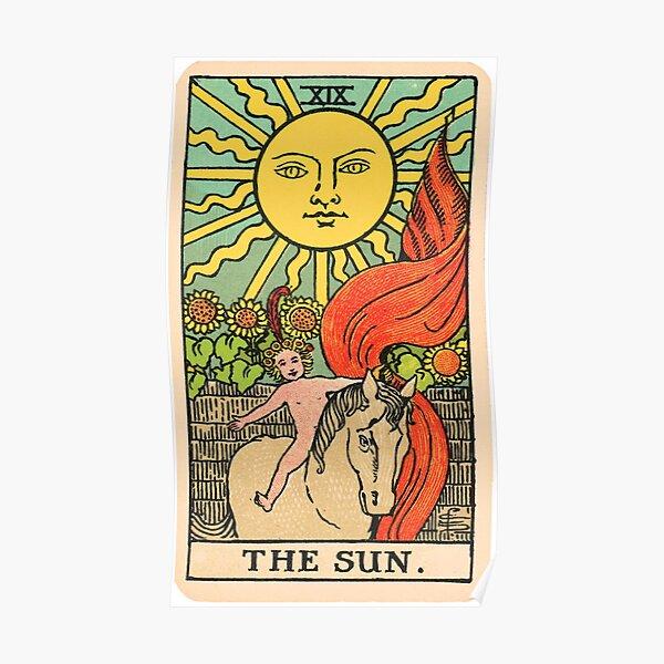 Tarot Card - The Sun Poster
