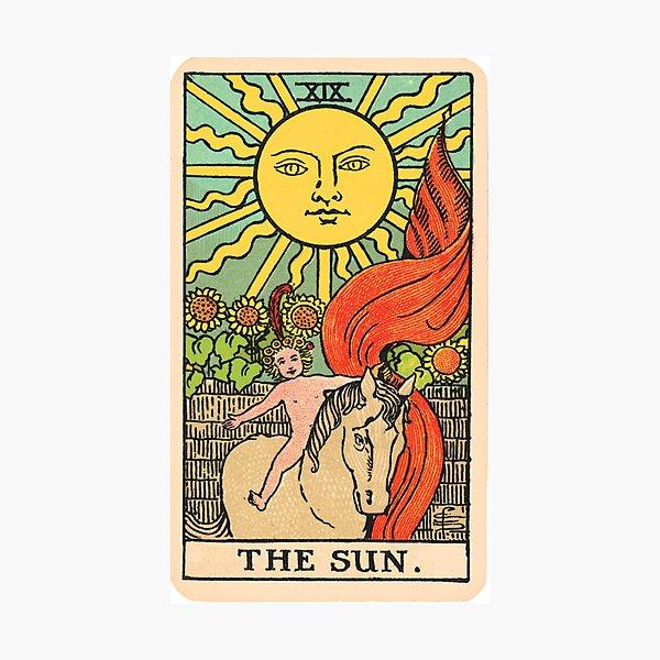 Tarot Card - The Sun Photographic Print