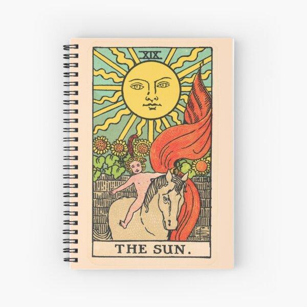 Tarot Card - The Sun Spiral Notebook