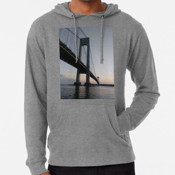 New York, New York City, Brooklyn, #NewYork, #NewYorkCity, #Brooklyn, Verrazano-Narrows Bridge, #VerrazanoNarrowsBridge, #VerrazanoBridge, #bridge, #Verrazano, #Narrows, Verrazano-Narrows Bridge Lightweight Hoodie