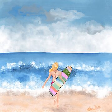 Surfer girl by eligart