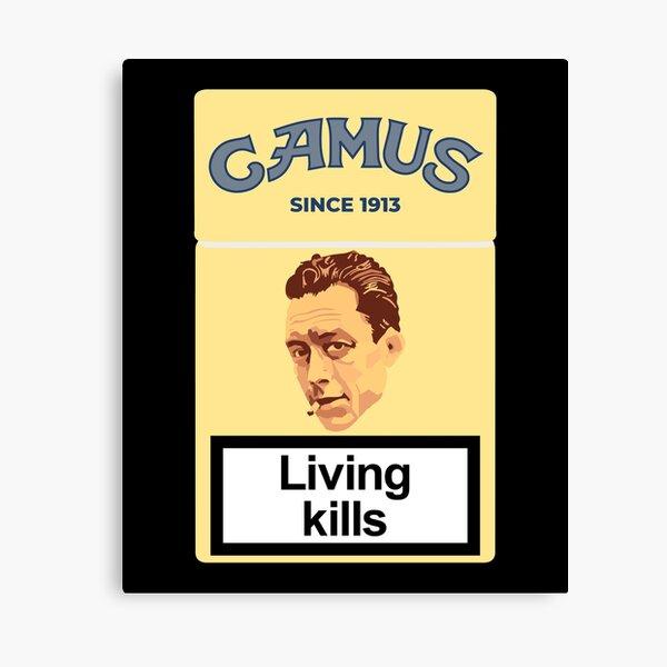 Philosopher Albert Camus Canvas Print