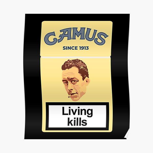 Le philosophe Albert Camus Poster