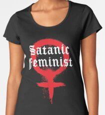 Satanische Feministische Graffiti Frauen Premium T-Shirts