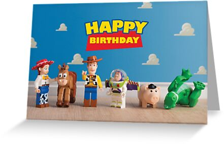 Toy Story Themed Birthday Card Greeting Cards By Minifigmoments