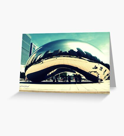 City in a Bean Greeting Card