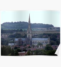 Salisbury Cathedral in  the distance Poster