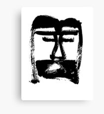 Head of Christ/Christ in Me - Black and White - Jenny Meehan Canvas Print