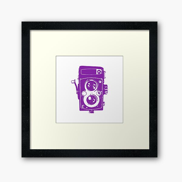 Big Vintage Camera Love - Purple Framed Art Print