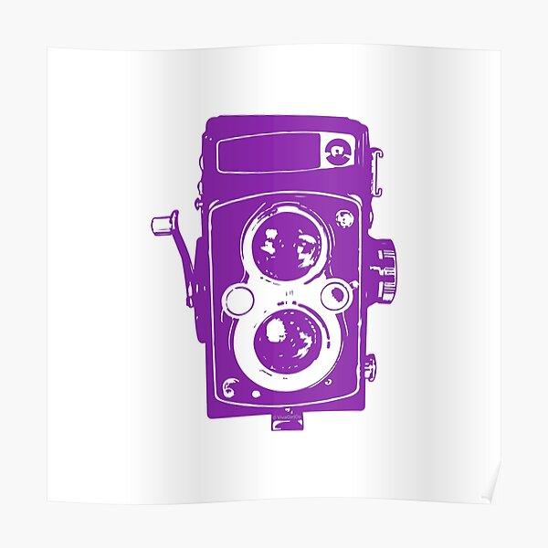 Big Vintage Camera Love - Purple Poster