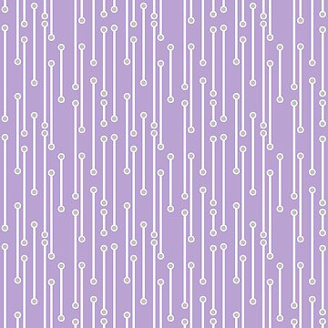 Dotted Lines in Lilac, White and Gray by MelFischer
