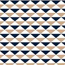 Navy & Beige Triangles by emma60
