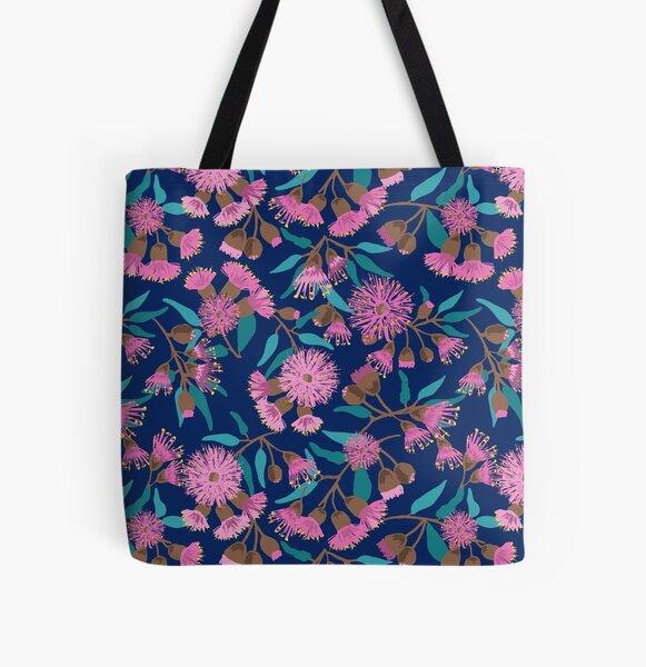 Australian Pink Flowering Gum pattern All Over Print Tote Bag