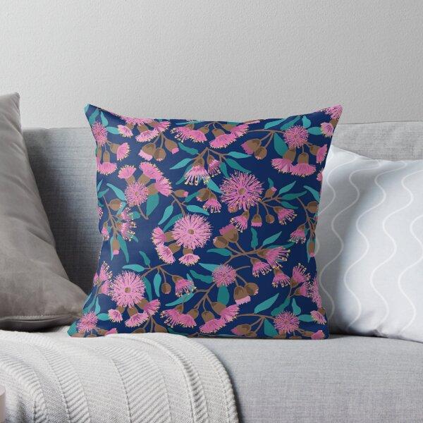 Australian Pink Flowering Gum Throw Pillow