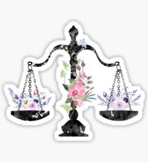 Scales of Justice Art Sticker