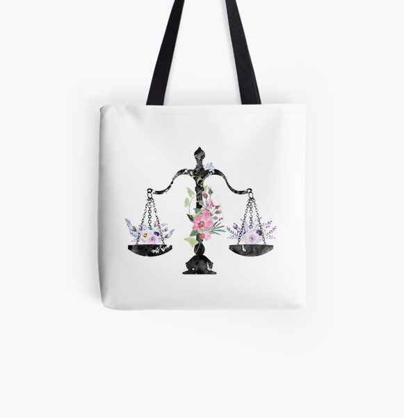 Scales of Justice Art All Over Print Tote Bag