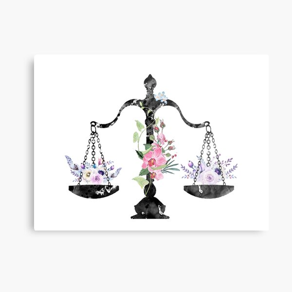Scales of Justice Art Metal Print