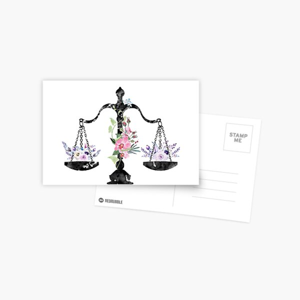 Scales of Justice Art Postcard