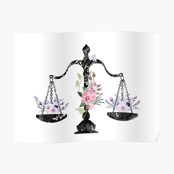 Scales of Justice Art Poster