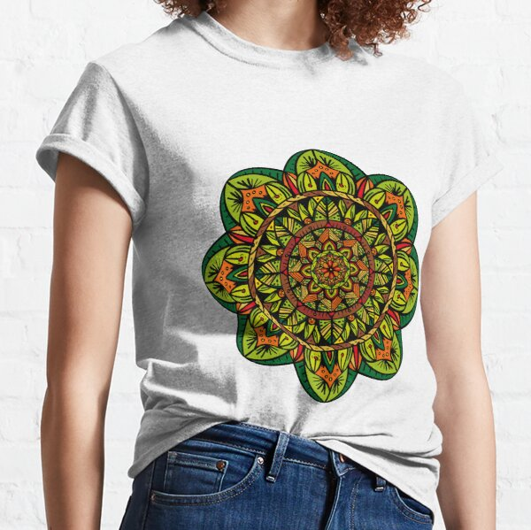 Tropical Jungle Mandala Camiseta clásica