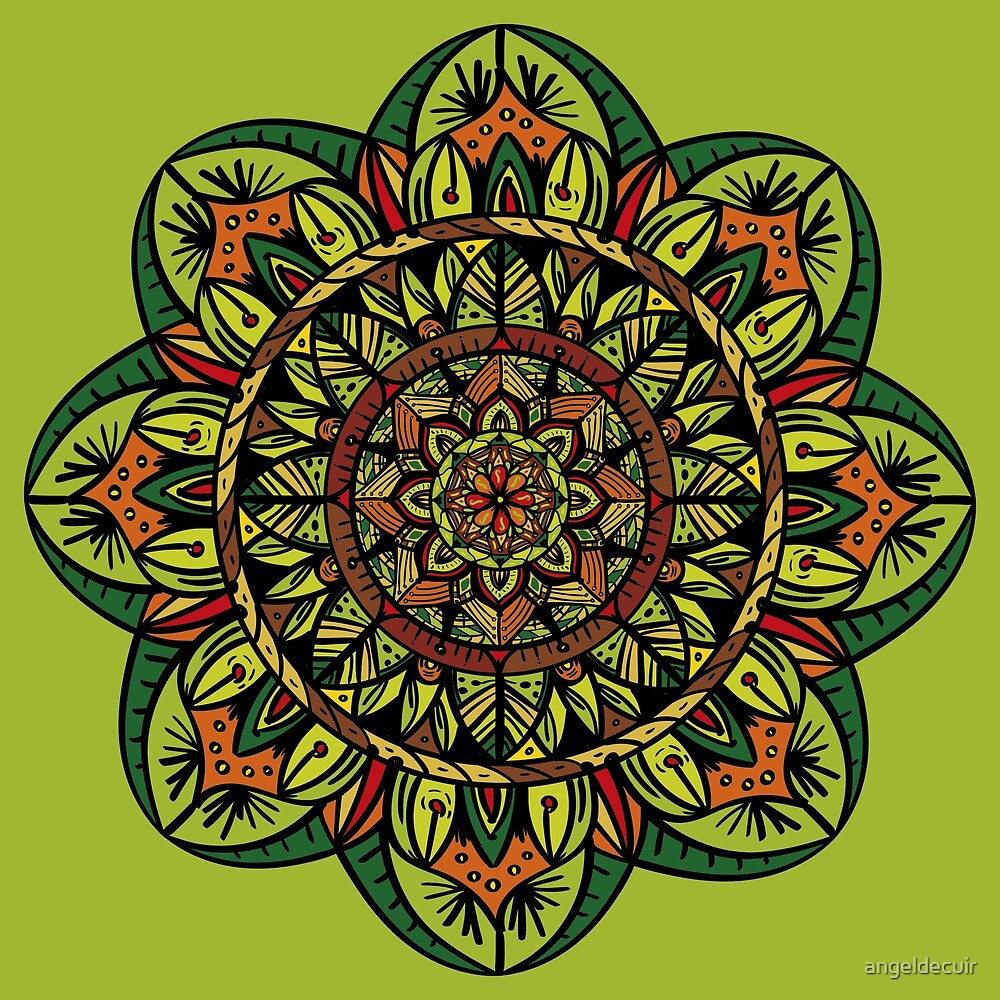 «Tropical Jungle Mandala» de angeldecuir