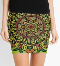 Tropical Jungle Mandala Mini Skirt