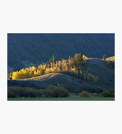 Hill at the Edge of Town Photographic Print
