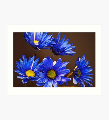 Bunch of Blue Art Print