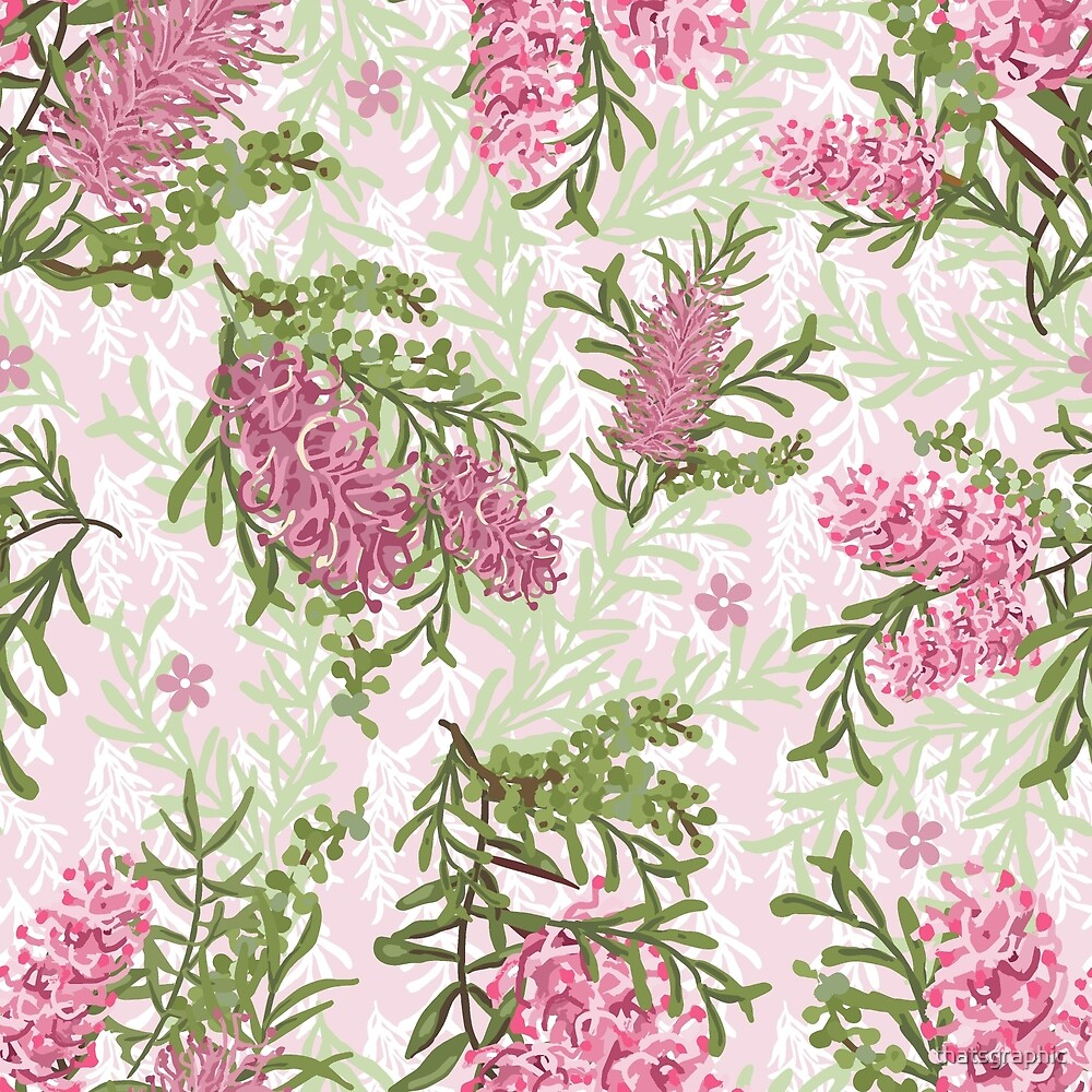Australian Pink Grevilleas by thatsgraphic