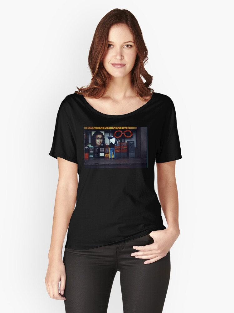 Rainy Day Shopping Women's Relaxed Fit T-Shirt Front