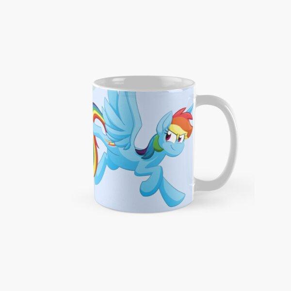 Cloud Busting Rainbow Dash No Background Classic Mug