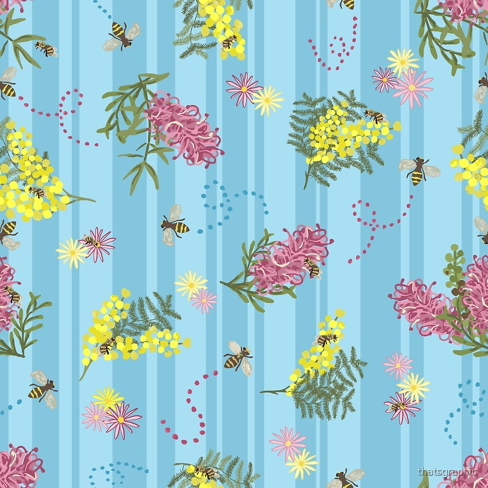 Busy Bees and Australian Flora by thatsgraphic