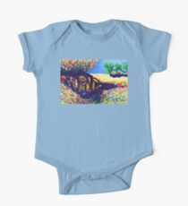 Colorful Shadows among the Rocks One Piece - Short Sleeve