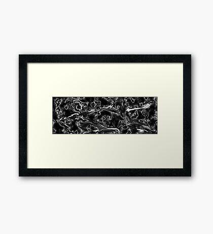 Skating Away Framed Print