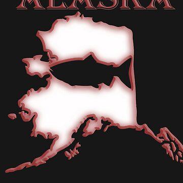 State of Alaska Salmon Fishing shirt by AlaskaCC