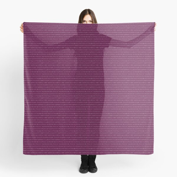 IPA scarf - plum and white Scarf