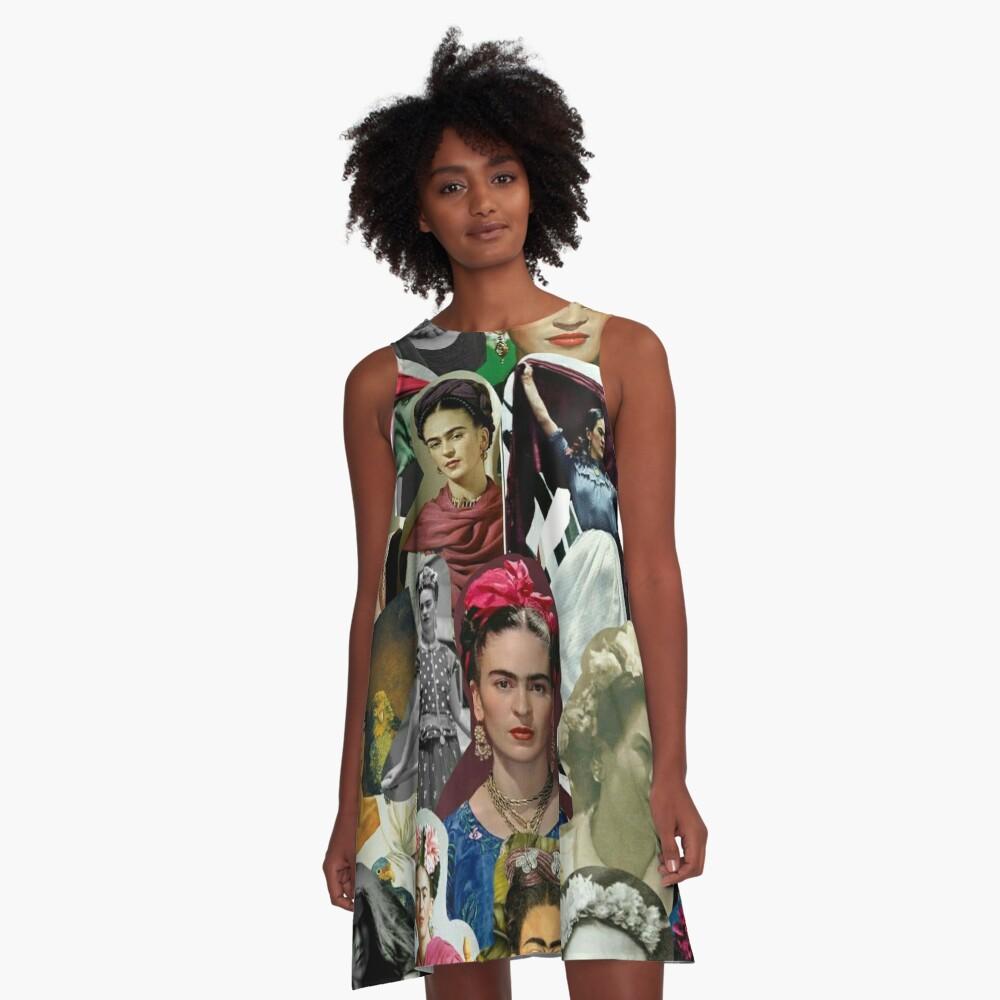 Frida Collage  A-Line Dress