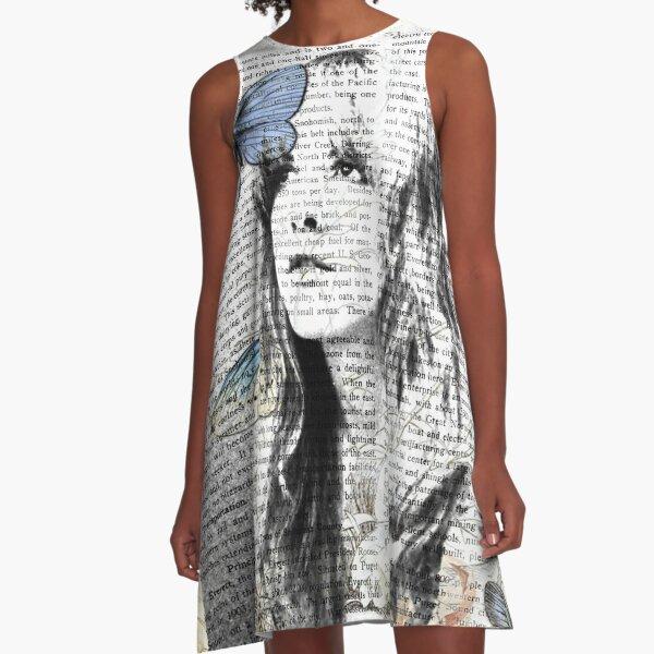 Stevie Nicks Vintage Print A-Line Dress