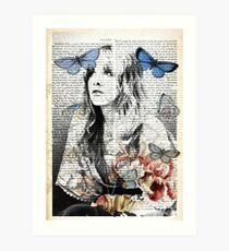 Stevie Nicks Vintage Print Art Print