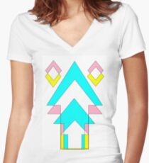 arrow color Women's Fitted V-Neck T-Shirt