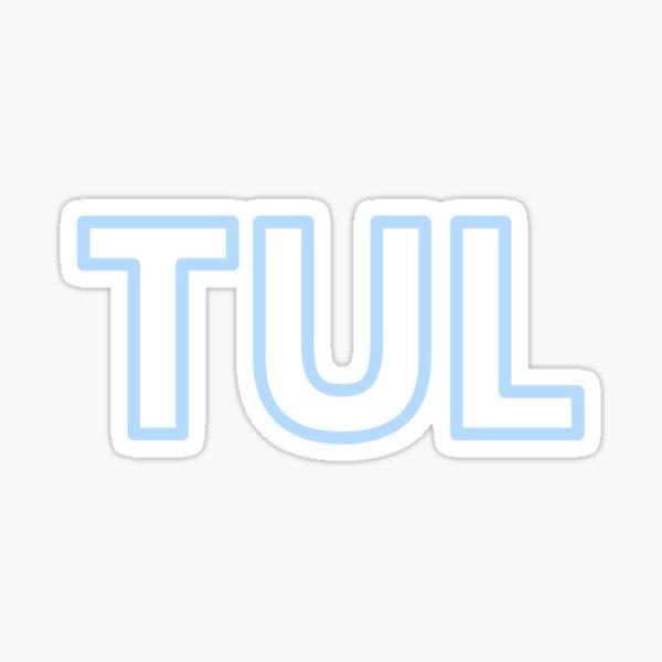 TUL • TULSA, OKLAHOMA AIRPORT • COLUMBIA BLUE • OUTLINE Sticker
