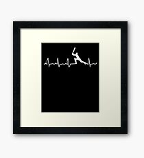 Cricket Player, Cricket Heartbeat, Cricket Player Gift Framed Print