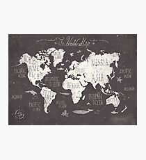 The World Map Photographic Print
