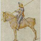 Albrecht Dürer..Gewappneter Reiter.. (Armored Rider) 1498 by edsimoneit