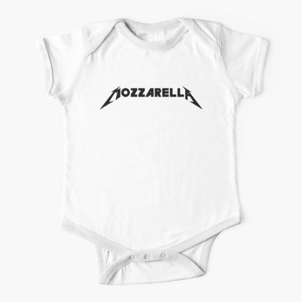 Metallica Mozzarella  Short Sleeve Baby One-Piece