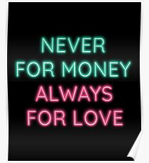 Talking Heads - Always For Love - Neon Poster
