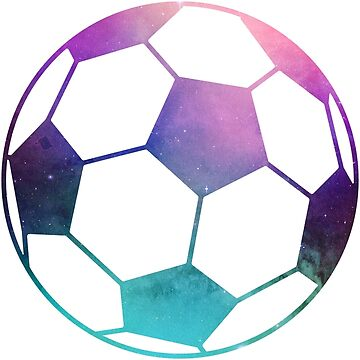 Galaxy Soccer Ball Purple Teal Nebula by Distrill